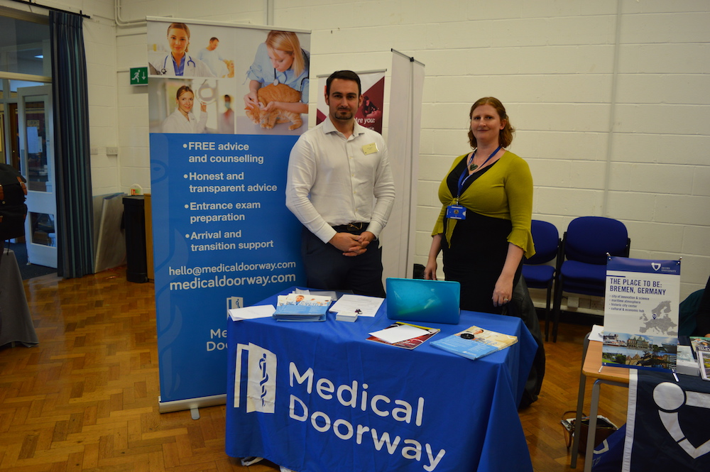 Ben Ambrose with Melanie Moorhouse (Head of Careers) at St Clare's Oxford.