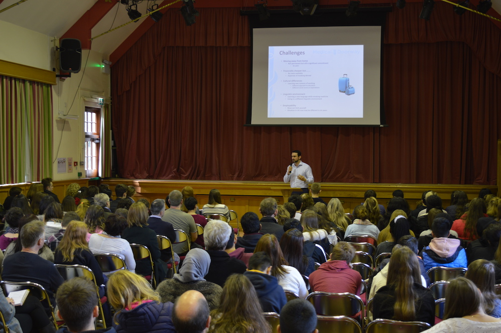 Ben Ambrose delivered the Study Medicine in Europe Presentation