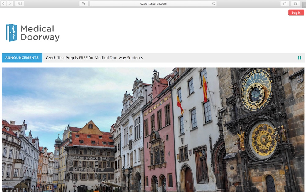 Medical Doorway students will receive a new unique login to access Czech Test Prep.