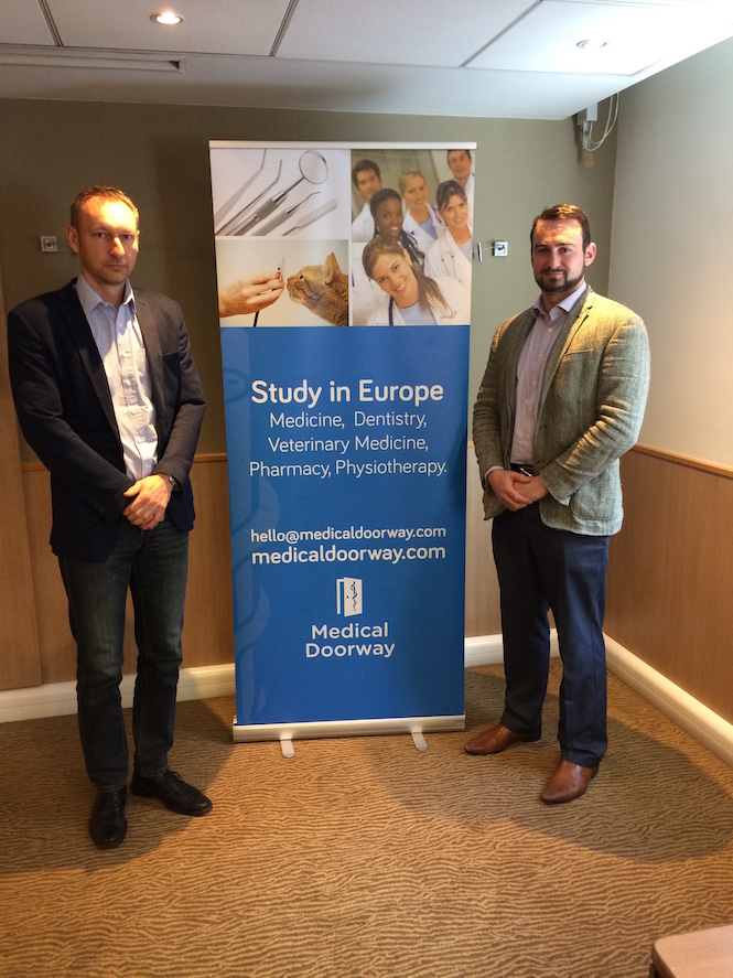Dr Martin Loveček from Palacky University with Ben Ambrose (Managing Director of Medical Doorway)