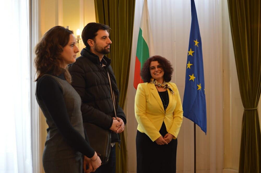 Third Secretary Tsvetin Spasov meeting MU-Pleven's Admissions Experts