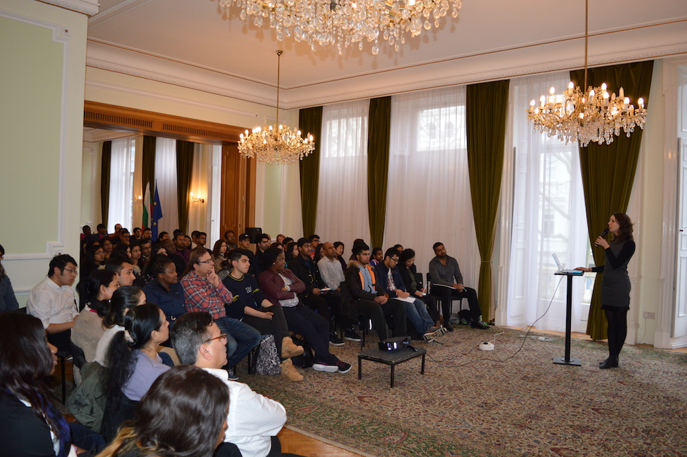 Maya Minova informed students about the orientation programme