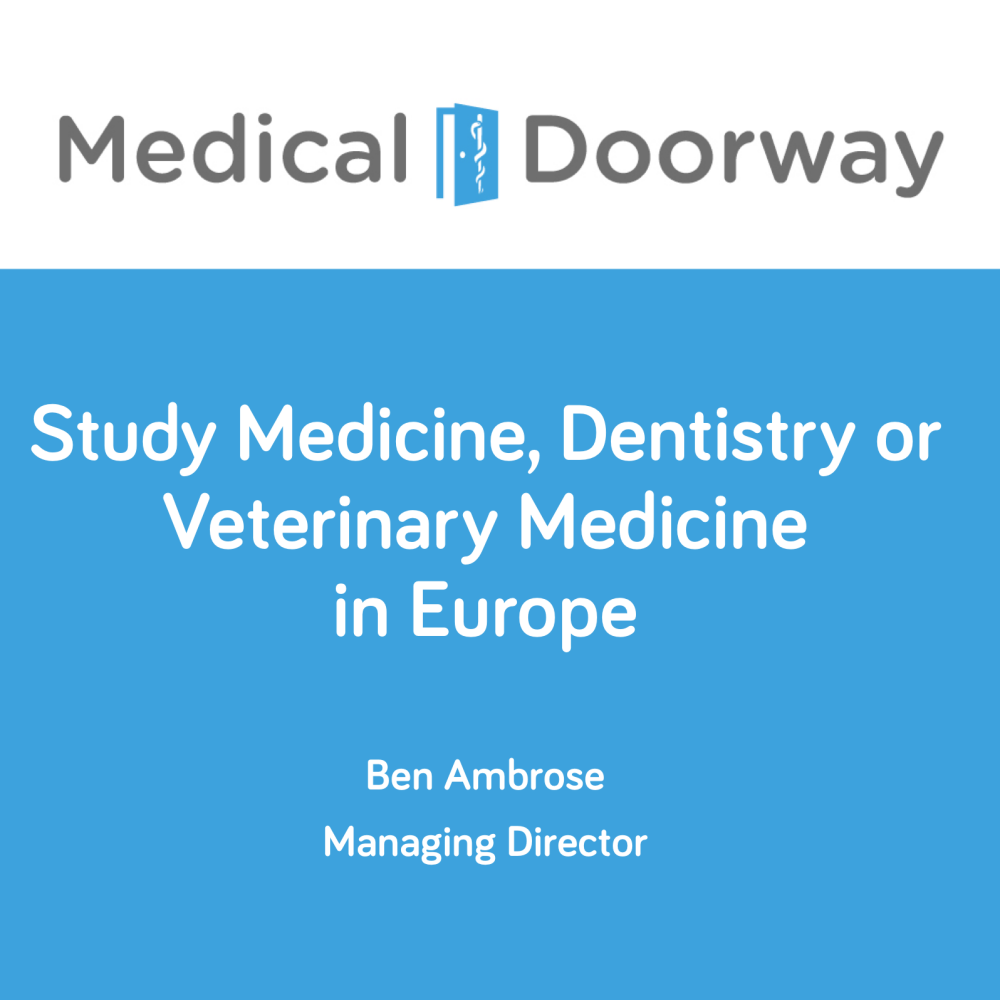 Study Medicine in Europe - Presentation