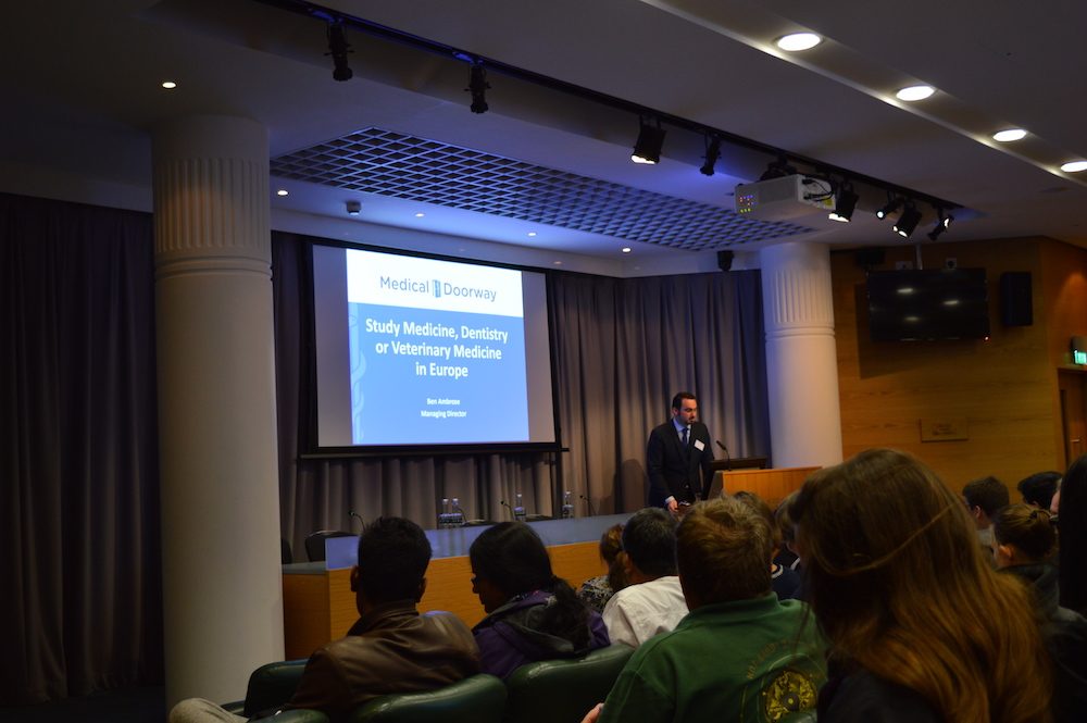 Ben Ambrose delivered the Study Medicine in Europe presentation.