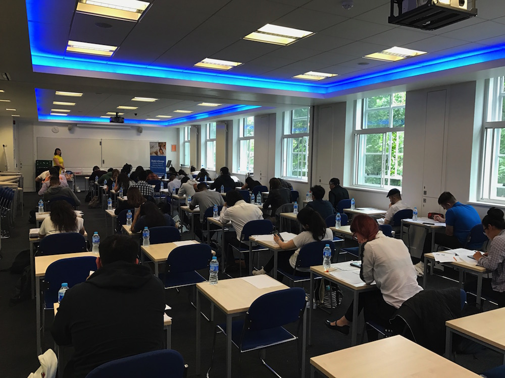 Forty students sat the Palacky University in Olomouc entrance exam in London