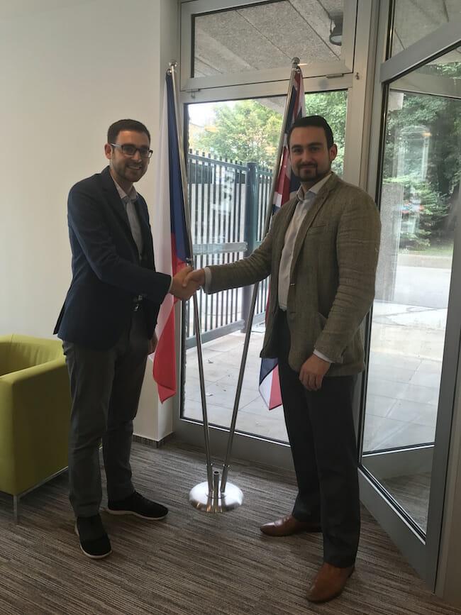 Ben Ambrose held a meeting with Third Secretary Ondřej Hovádek at the Czech Embassy in London