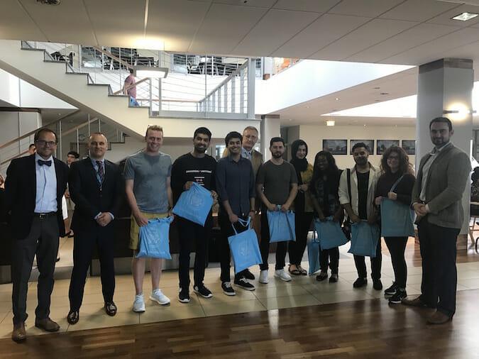 Ben Ambrose, Prof Grzegorz Oszkinis (Dean), Mr. Grzegorz Chewusz & Prof. Jan Mazela with some of our 2017 PUMS students.