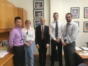 The Medical Doorway team and Professor David Sedmera (Charles University First Faculty of Medicine) held a meeting with KGV Principal Mark Blackshaw.