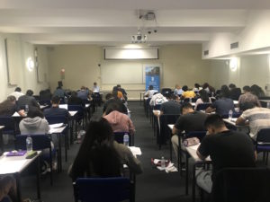 Over sixty students registered to sit the Masaryk University entrance exams in London and Manchester.