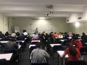 Forty aspiring doctors and dentists sat the Charles University Faculty of Medicine in Hradec Kralove clearing examination in London.