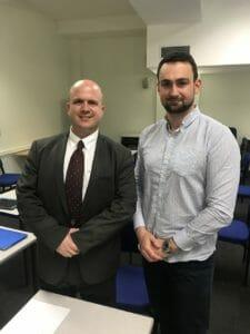 Professor Eitan Brizman (Charles University First Faculty) with Ben Ambrose (Medical Doorway)
