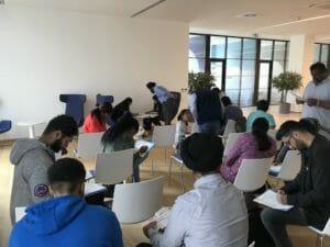 Medical Doorway students at Palacky University setting up their student bank accounts