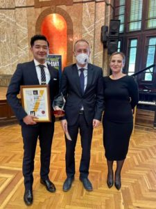 Prasidha received his award from Minister of Education and Science, Krasimir Valchev. He was supported by the President of Student Council Pleven, Konstantina Karakadieva.