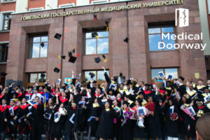 A record number of international students graduated this year from Gomel State Medical University